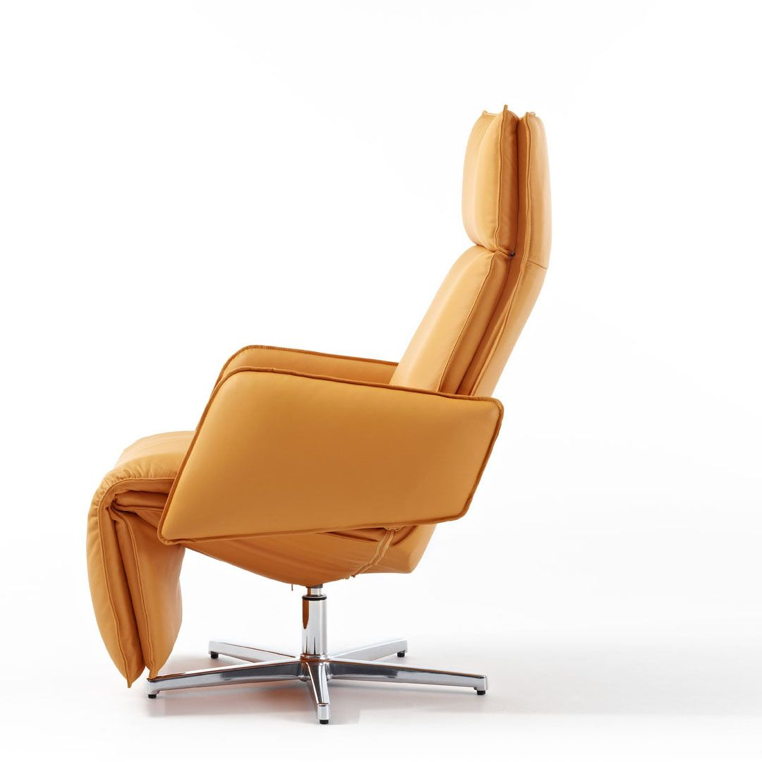 SofaCustom Modern Leather Swivel Recliner With Images Of