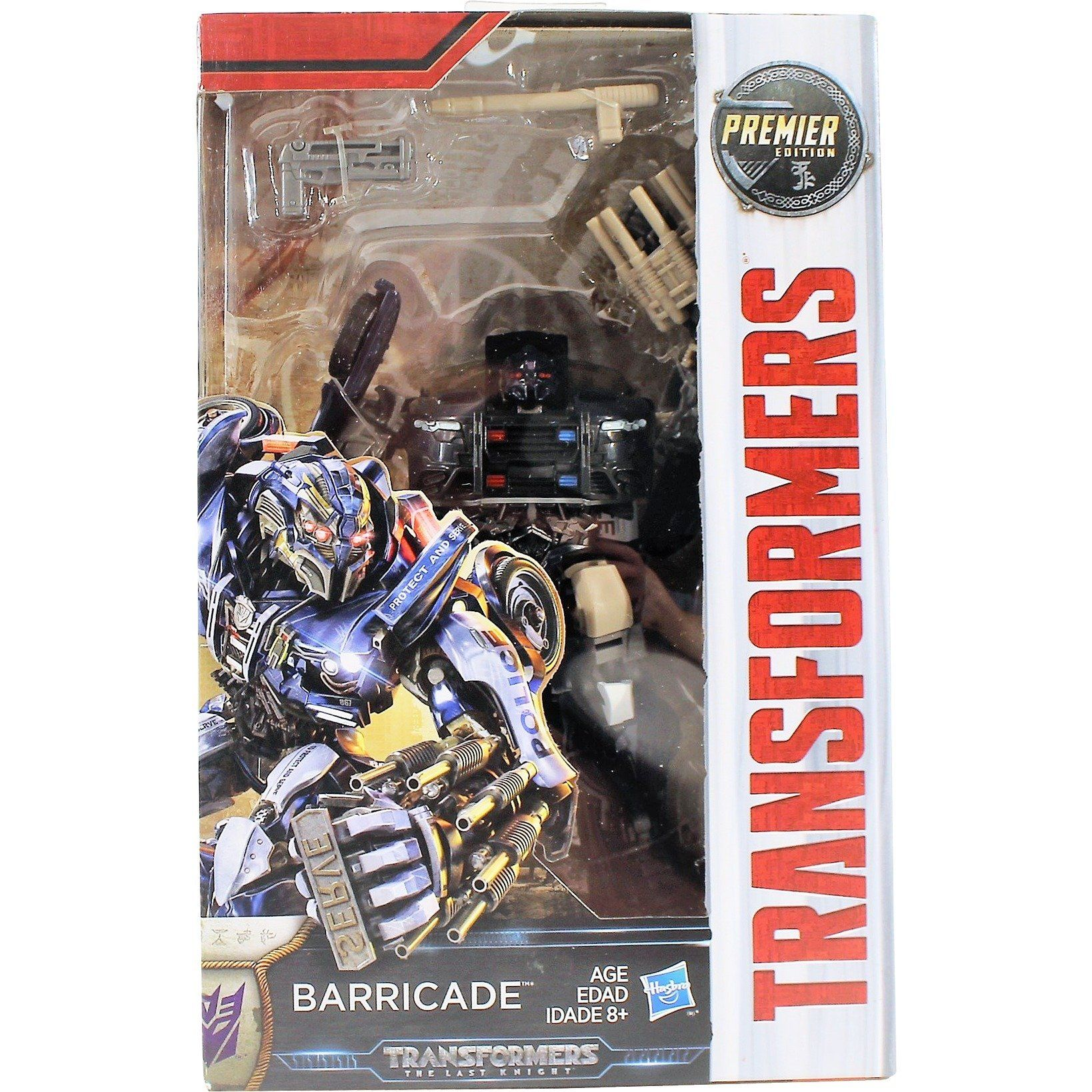 Transformers The Last Knight Premier Edition Deluxe Class Barricade New MISB