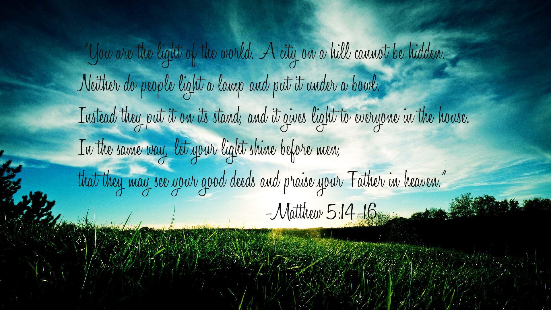 Matthew 5 14 16