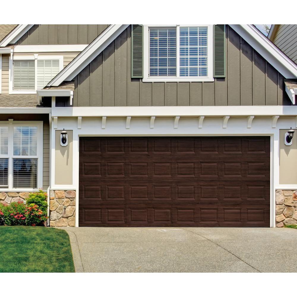 Giani Black Walnut 2 Car Garage Kit Fg Wl Wal 2 Kit The Home Depot In 2020 Garage Door Styles Garage Door Paint Garage Doors