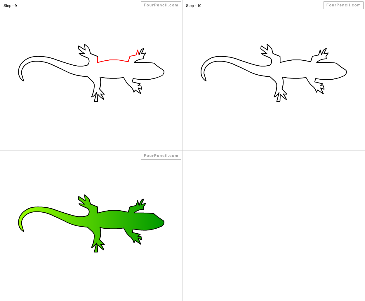 How To Draw Lizard For Kids Step By Step Drawing Tutorial Draw