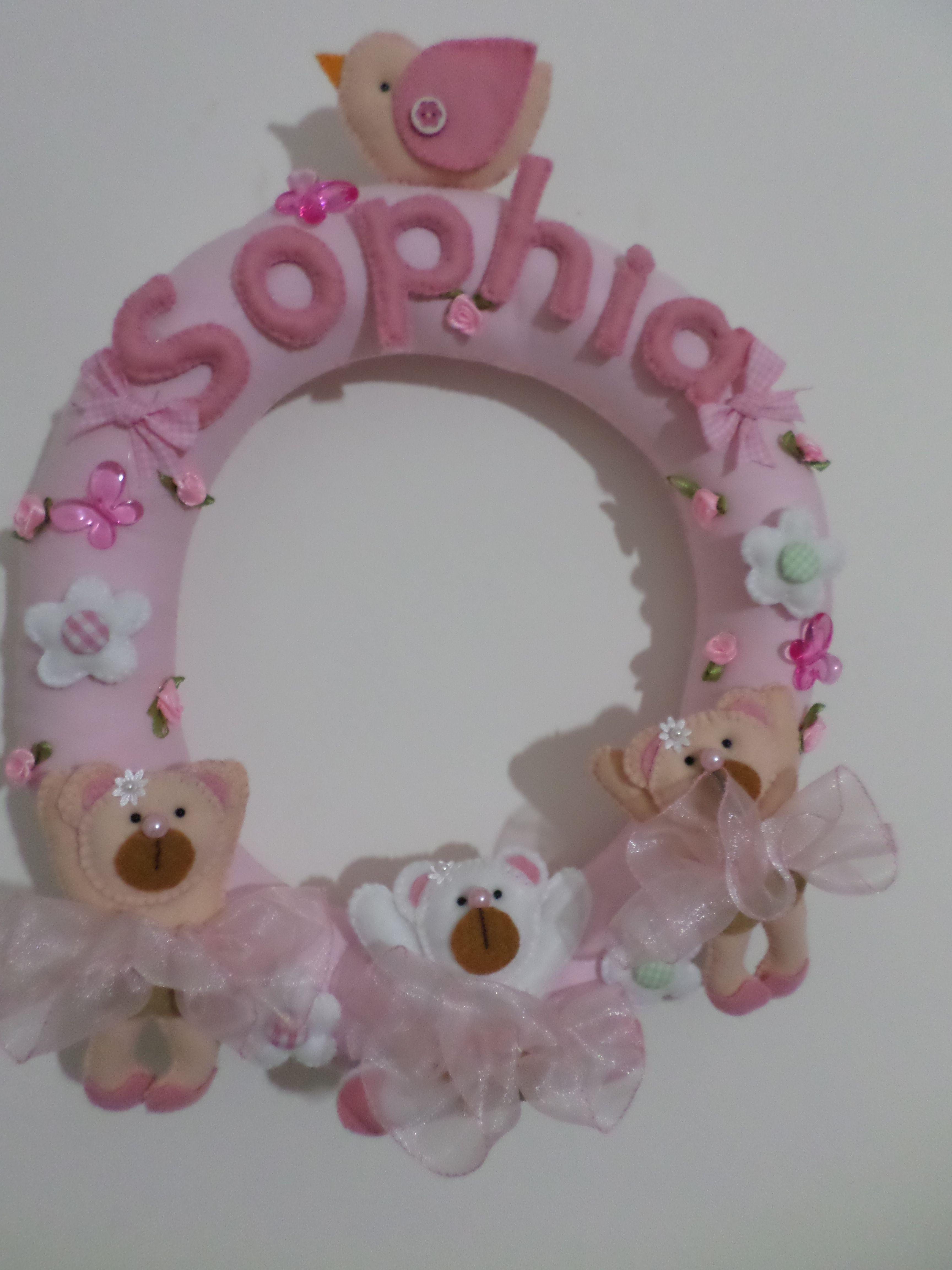http://floresdivertidas.wordpress.com Guirlanda de ursinhas bailarinas