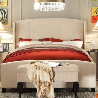 Found it at Wayfair - Chavelle Queen Upholstered Panel Bed