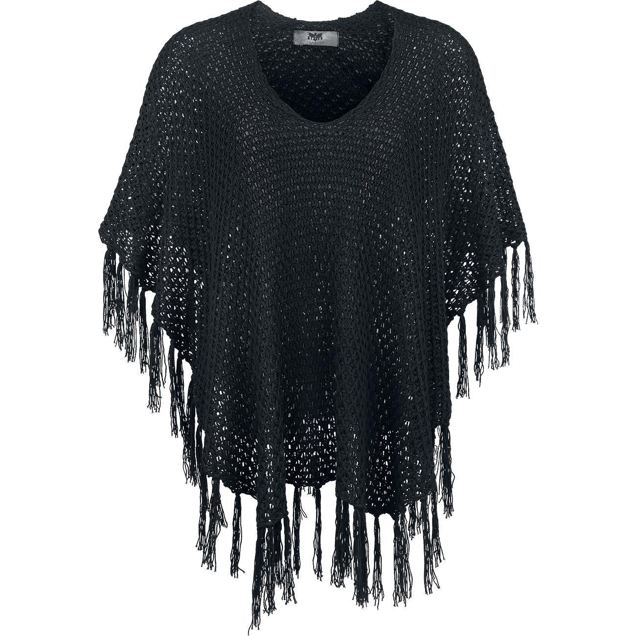 Knitted Poncho från Black Premium by EMP Kläder