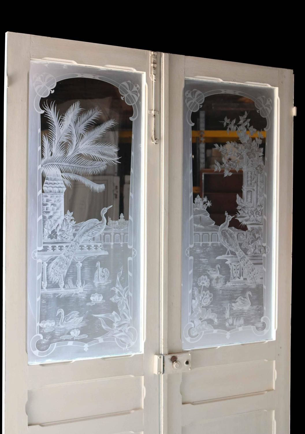 Pair of Antique French Etched Glass Doors ~ 1stdibs.com - Pair Of Antique French Etched Glass Doors Glass Doors, Doors And Gate