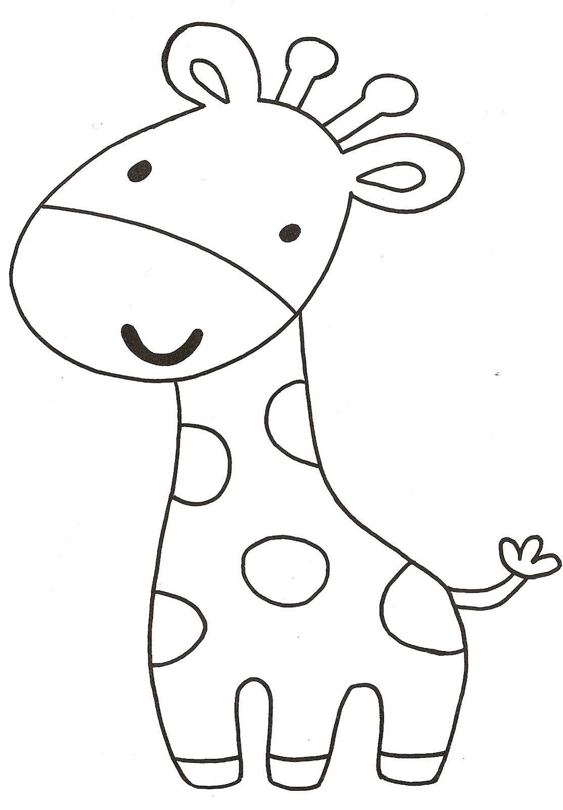 Giraffe template printable pattern coloringpage Moldes de