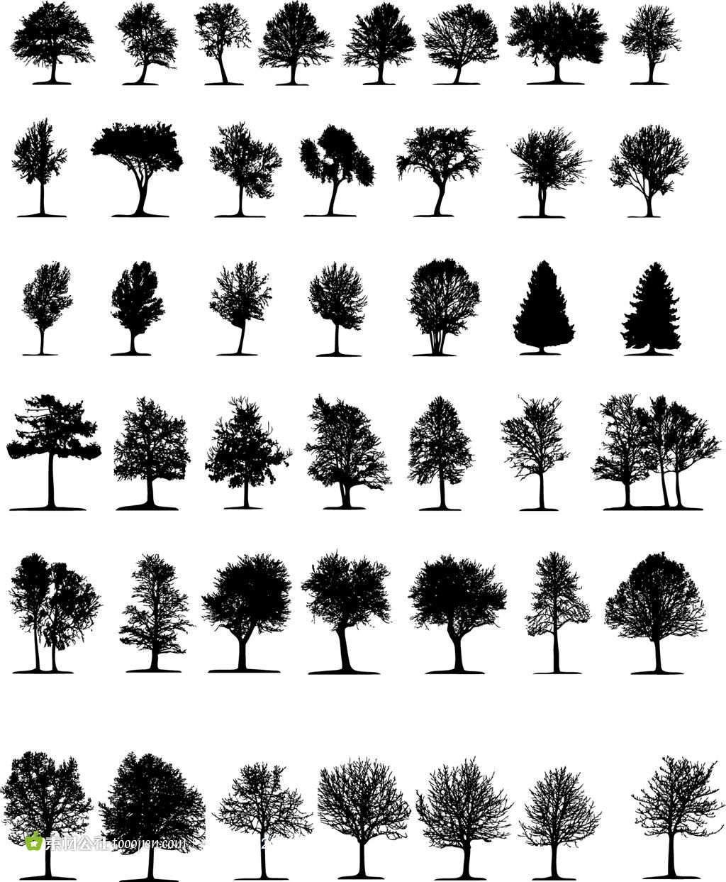 Image Result For Silhouette Trees Vector Free