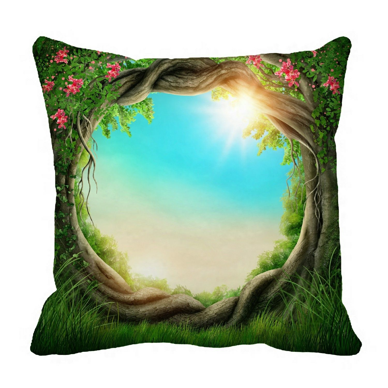 Enchanted dark forest at spring Pillow?Case?Pillow?Cover?Cushion?Cover