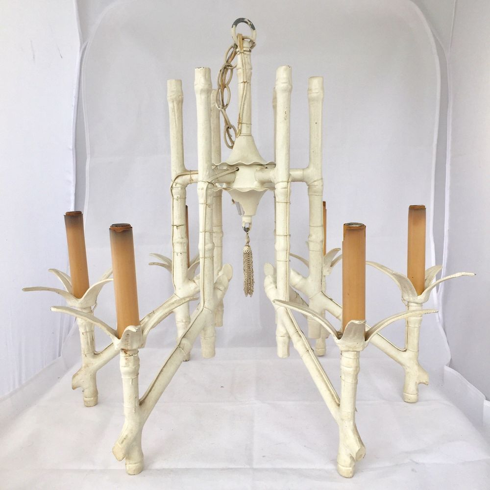 Vintage faux bamboo chandelier hollywood regency chinoiserie tole vintage faux bamboo chandelier hollywood regency chinoiserie tole light fixture arubaitofo Images
