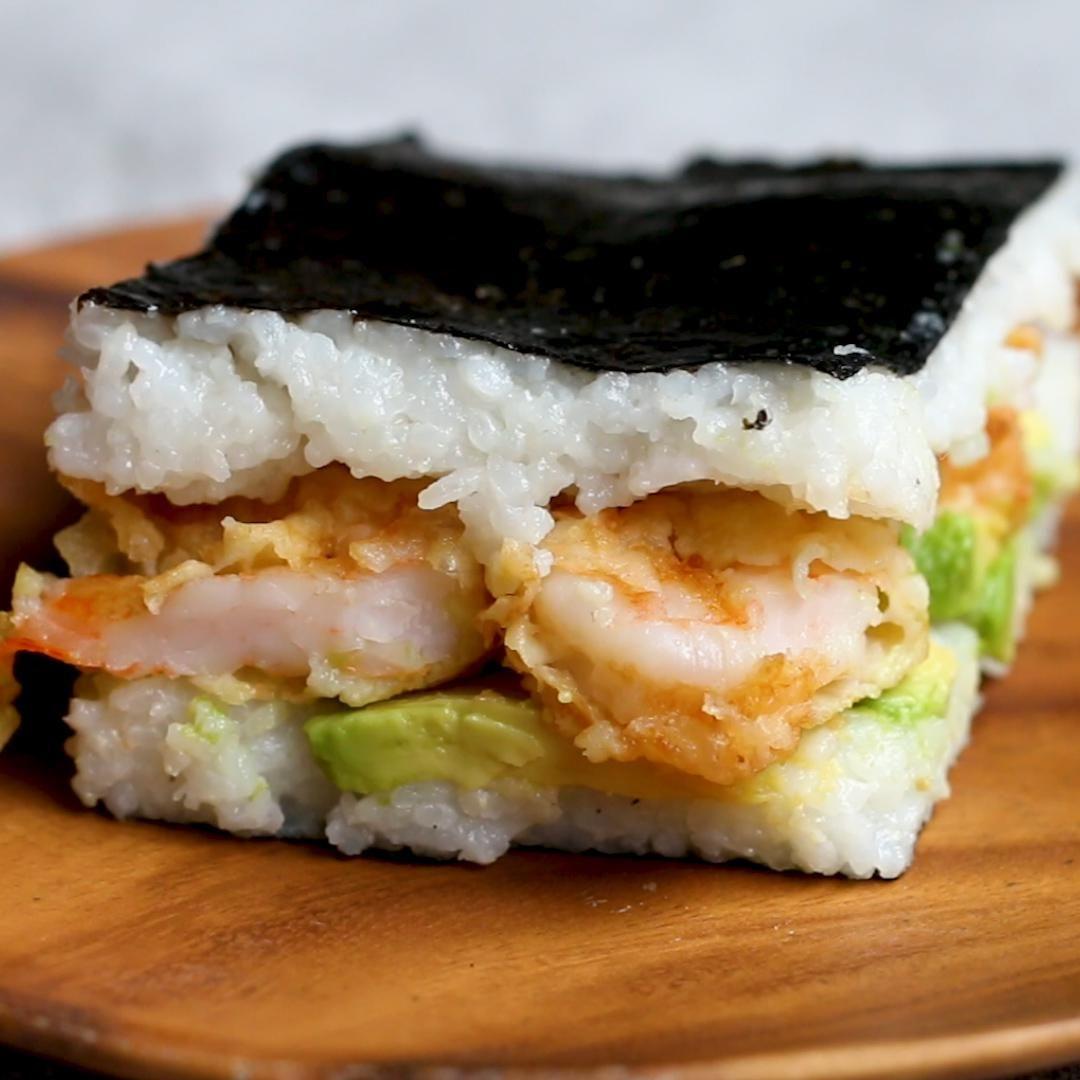 Fáciles Sandwiches de Sushi