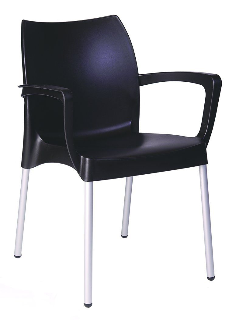 American Trading Company Domenica Ergonomic All-Weather Resin Modern Arm Chair.