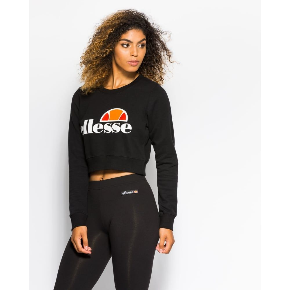 ellesse Womens Alessia Crew Sweat - Anthracite