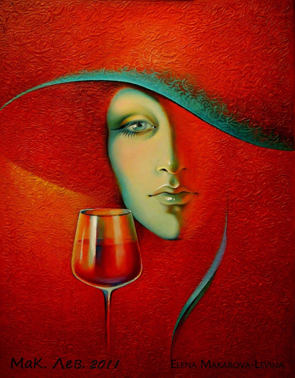 Alena Makarova Levina 1963 Figurative Painter Art Wine Art Beauty Landscapes