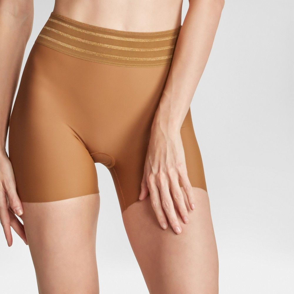 20a0f562a3 Assets by Spanx Women s Shaping Micro High-Waist Girl Short - Bronzed XL