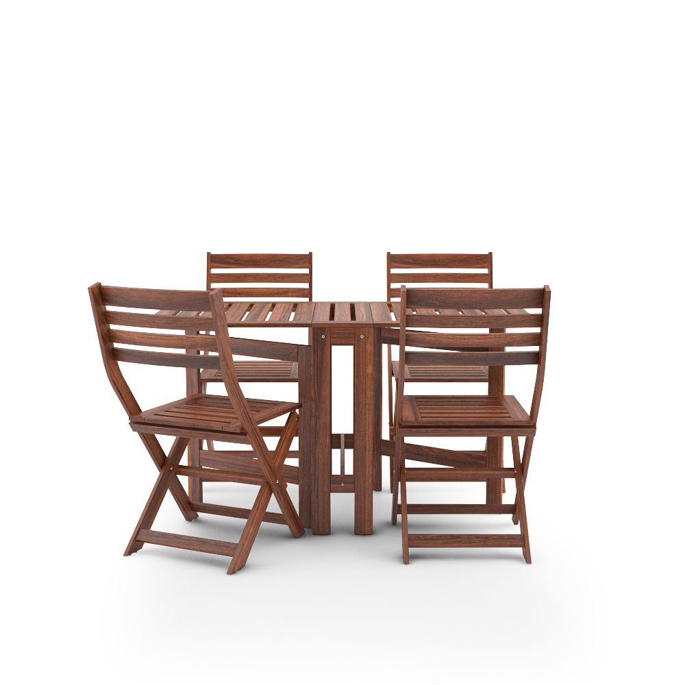Genial IKEA APPLARO SET TABLE AND 4 CHAIRS Free 3d Model Of Ikea Applaro Outdoor  Furnitures Series