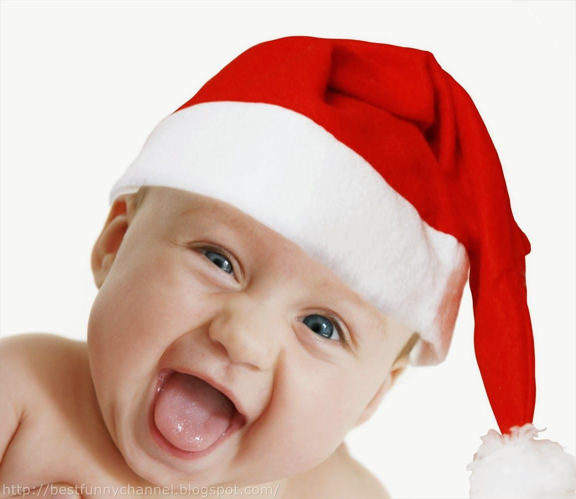 Cute Little Santa Hd Desktop Wallpaper High Definition Funny Baby Pictures Baby Christmas Photos Christmas Baby Names