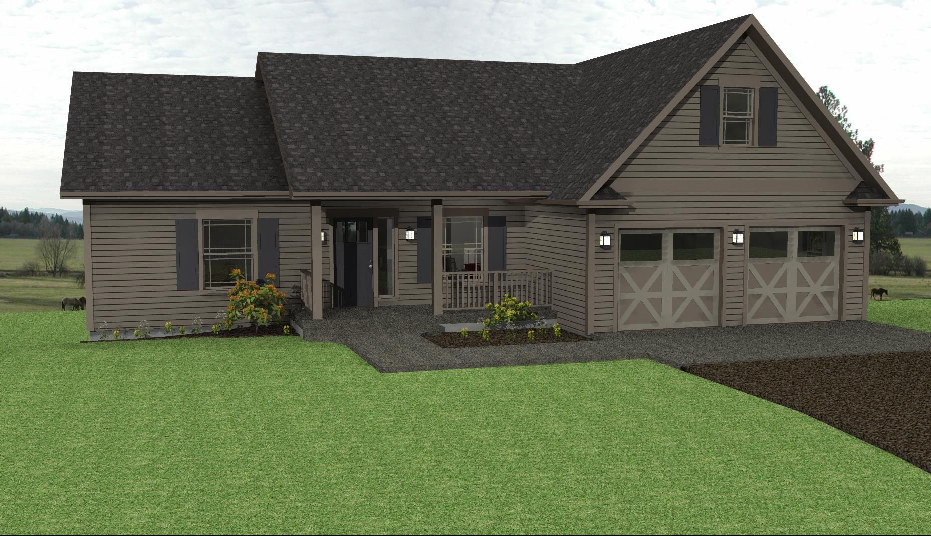 country ranch house plans affords all the spaces of a bigger home