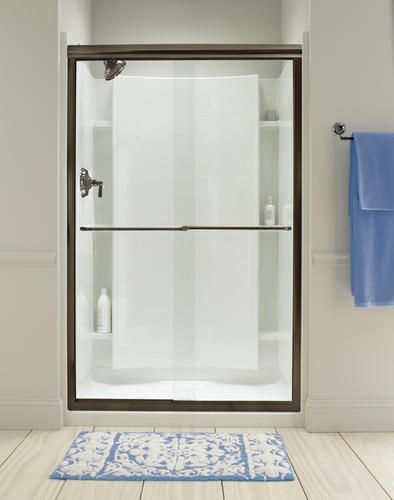 Sterling Finesse Frameless By Pass Shower Door Bathroom