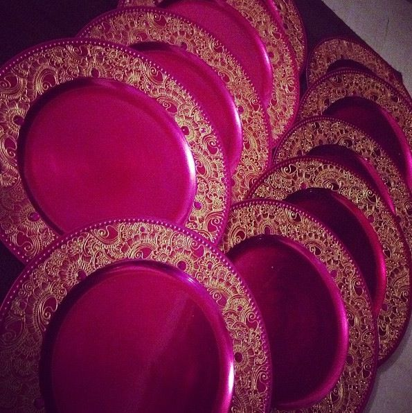 Mehndi Thaals Bengali Weddings : Mehendi thaals or plates i would use them to easy on