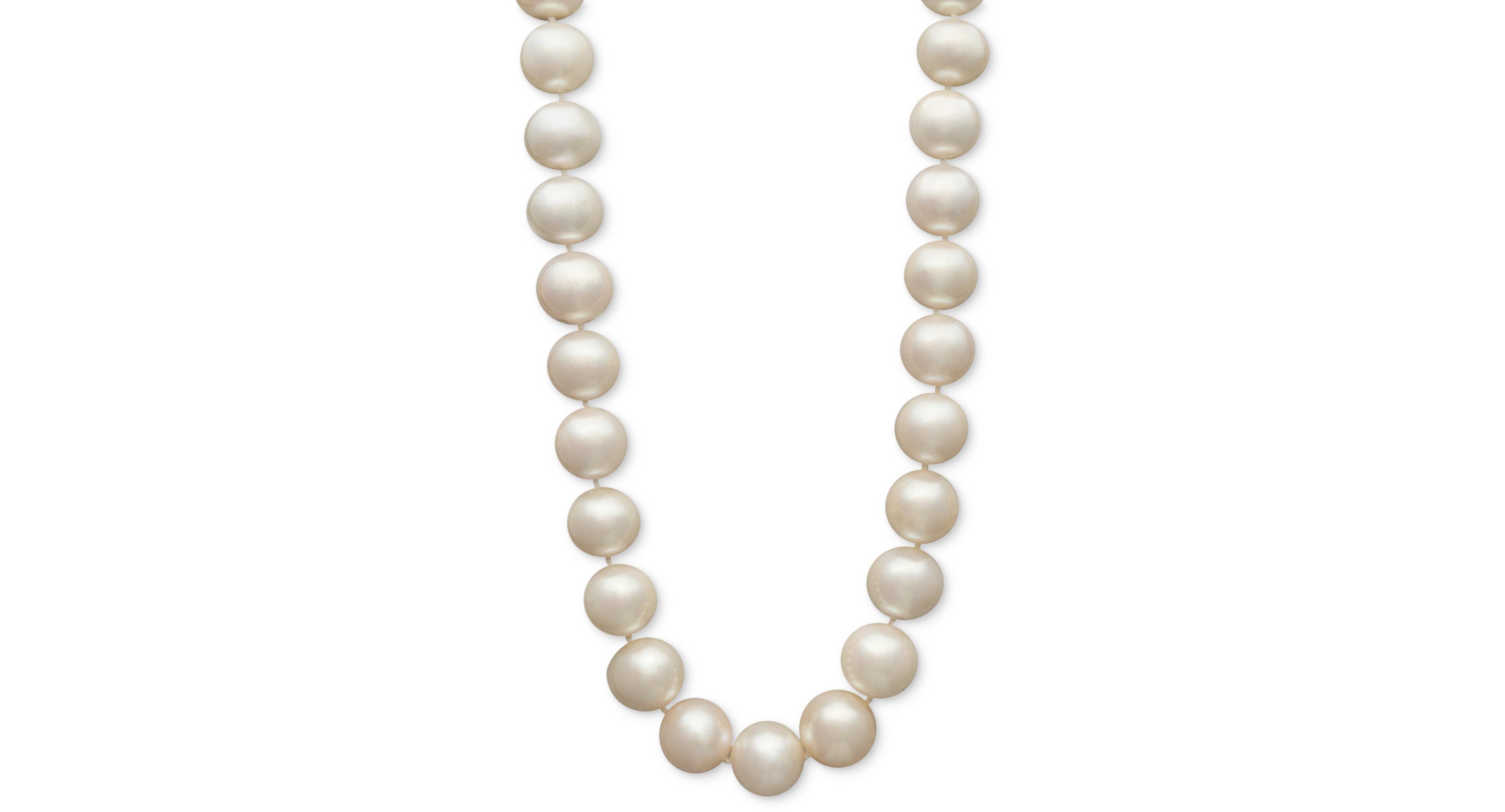 Belle de Mer Aa Cultured Freshwater Pearl Strand in 14k Gold (11-1/2 - 12-1/2mm)