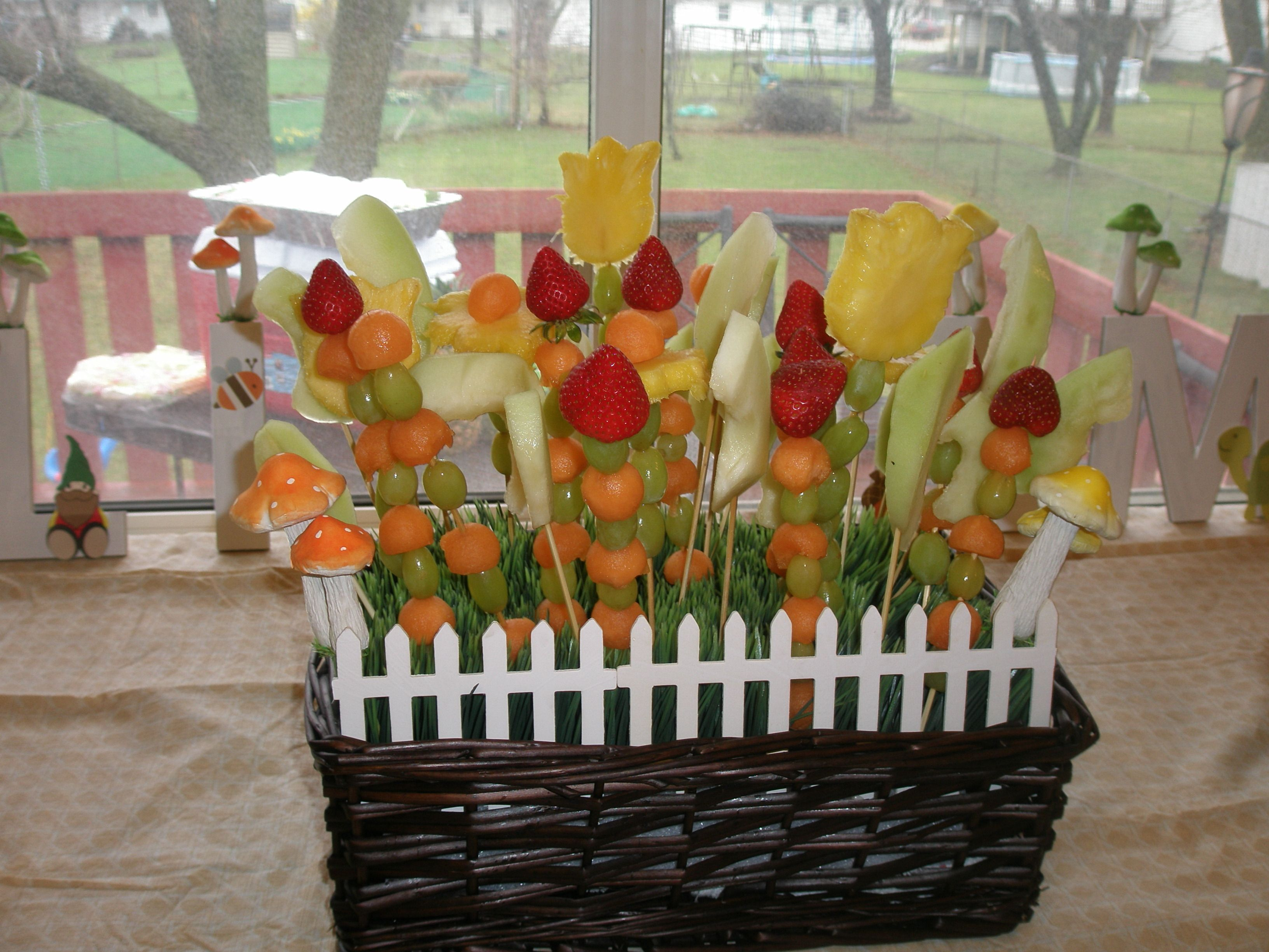 The Flowerfruit Basket I Made For His Forest Theme Party