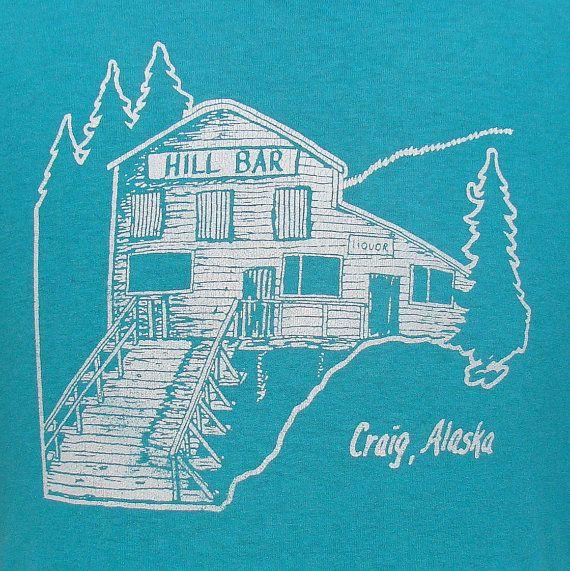 Vintage 80's Hill Bar Craig Alaska t shirt L. $14.99, via Etsy. | Alaska,  Vintage, Etsy