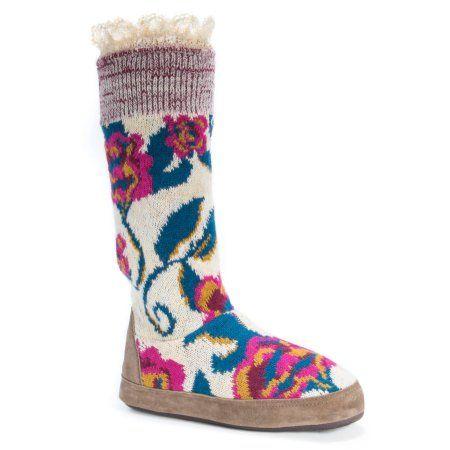 MUK Luks Women's Vanessa Slippers, Size: S (5-6), White
