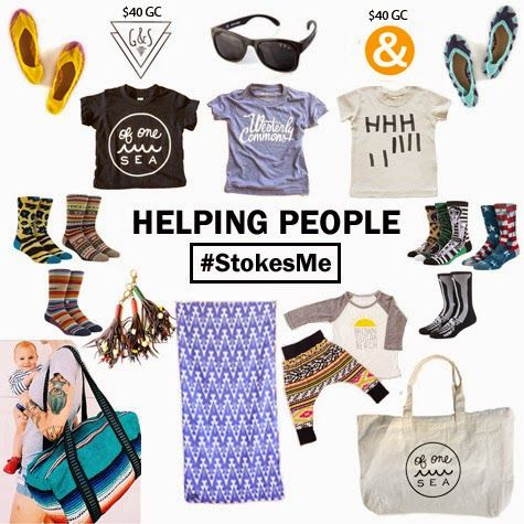 StokesMe September Giveaway! We've partnered with a few of our friends and their rad brands to bring you one generous giveaway of goodies for you and your kiddos! Enter to win at www.binkandboo.net #StokesMe #SurfersHelpingHumans #SpreadSunshineAndCheer #GiveGoodVibes #SocialChange