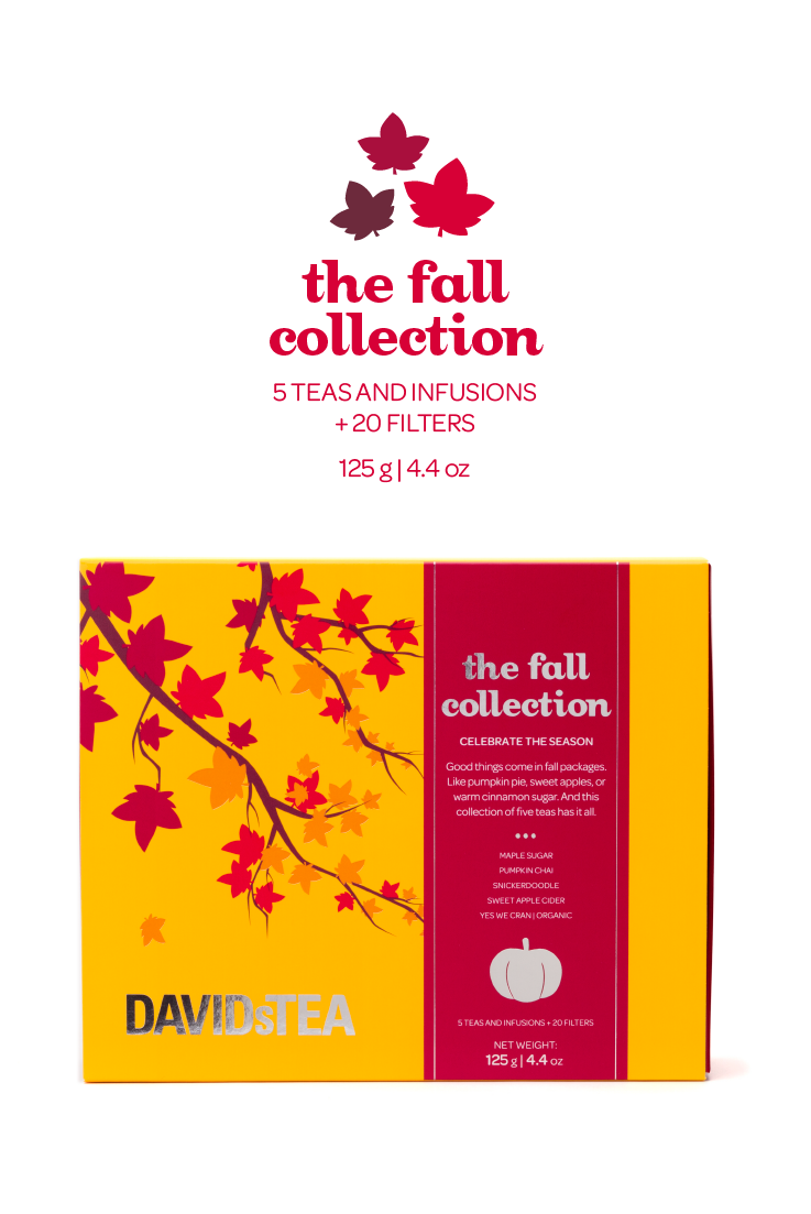 Celebrate the season with this comforting collection of five fall teas. Limited edition!