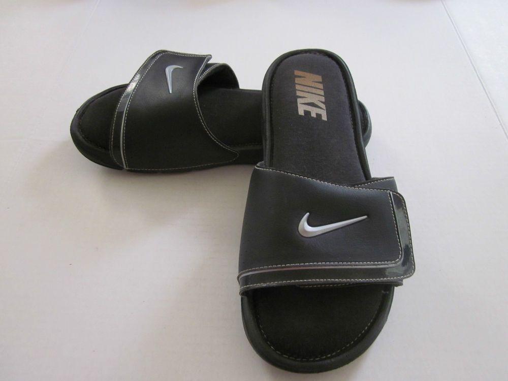 Pilar pesadilla Traición  NIKE Men's Comfort Slide 2 Slide Sandals Flip Flops Black Velcro Adjustable  | Flip flop sandals, Nike men, Slide sandals