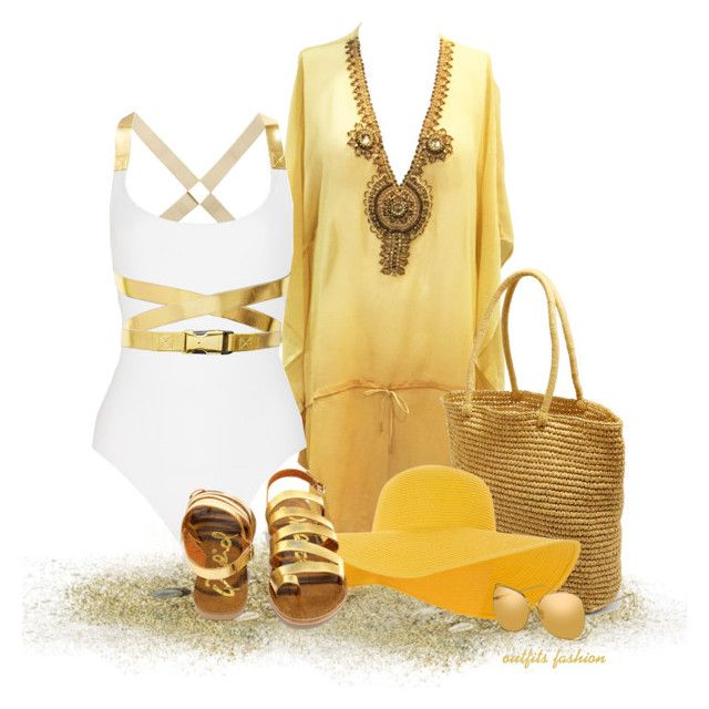 One day at the beach by outfitsfashion4 on Polyvore featuring moda, Michael Kors, Qupid, Soma, Accessorize and Linda Farrow