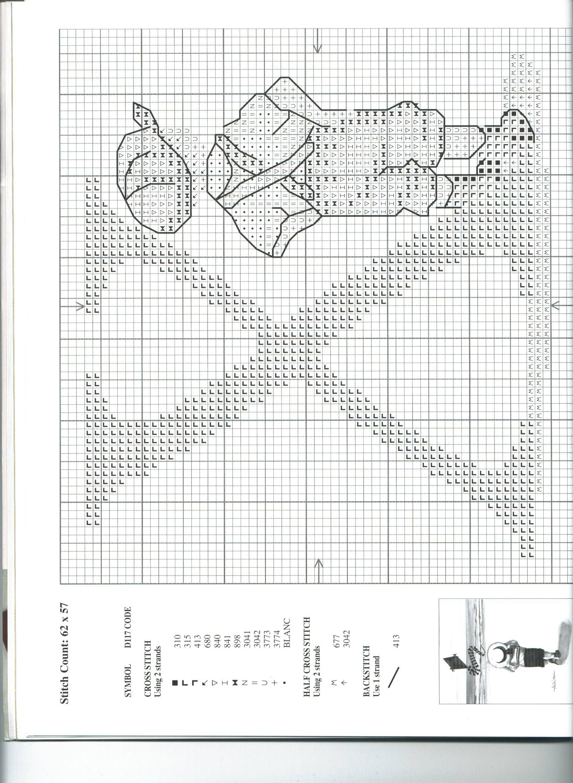 Schema punto croce Alfabeto Bimbi X