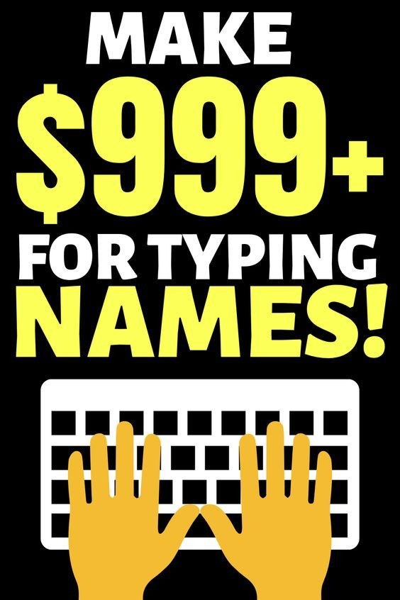 Earn money online by typing names!