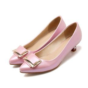 4f728de6dd2d Pointed Toe Square Buckle Women Pumps Low Thin Heels Shoes 3152 ...