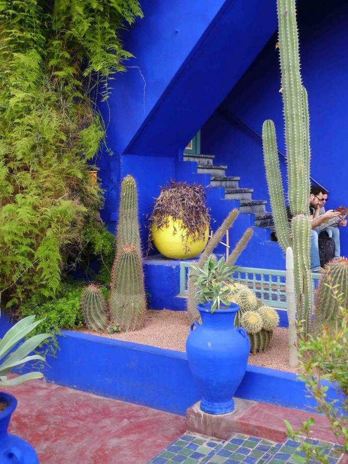Majorelle garden louis majorelle bleu majorelle cobalt blue planter http remodelista com posts rhapsody in blue jardin majorelle in marrakech