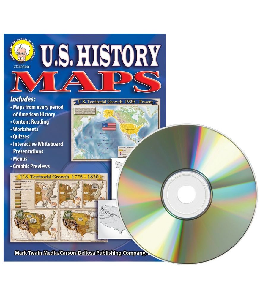 CDWish US History Maps CDROM Is Loaded With Projectable Or - Interactive us history map