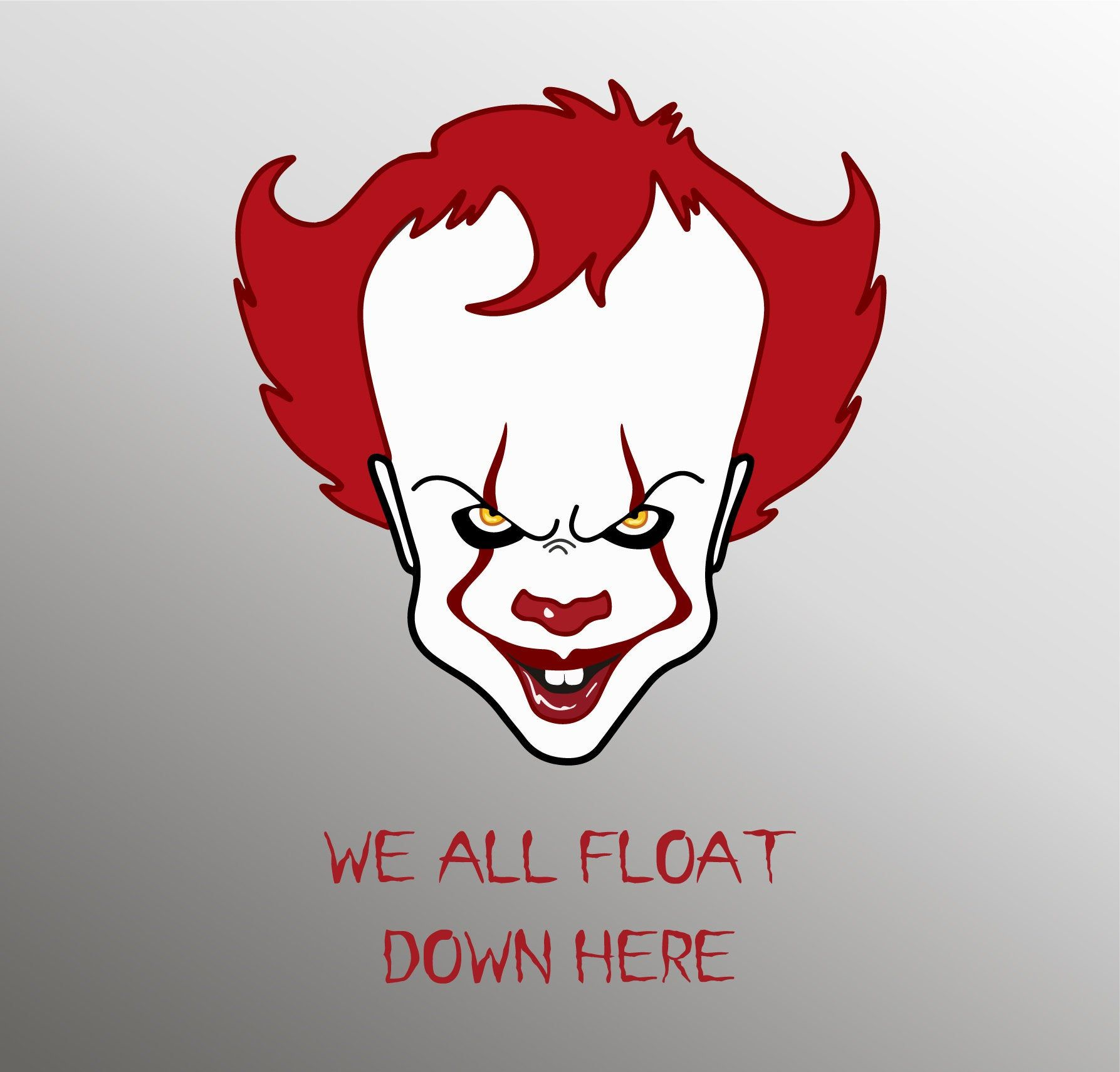 We All Float Down Here Pennywise Svg Pennywise Silhouette Etsy Scary Clown Drawing Scary Drawings Scary Clowns
