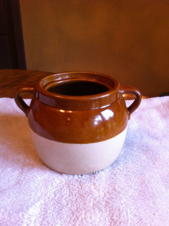 Vintage Stoneware Bean Pot from Roberson by DiscardedDreams, $30.00