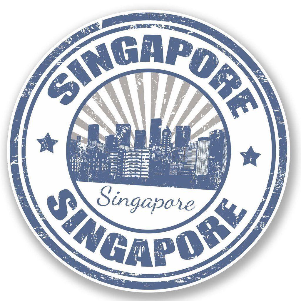 2 X Singapore Vinyl Sticker Laptop Travel Luggage 4698 Ebay Home