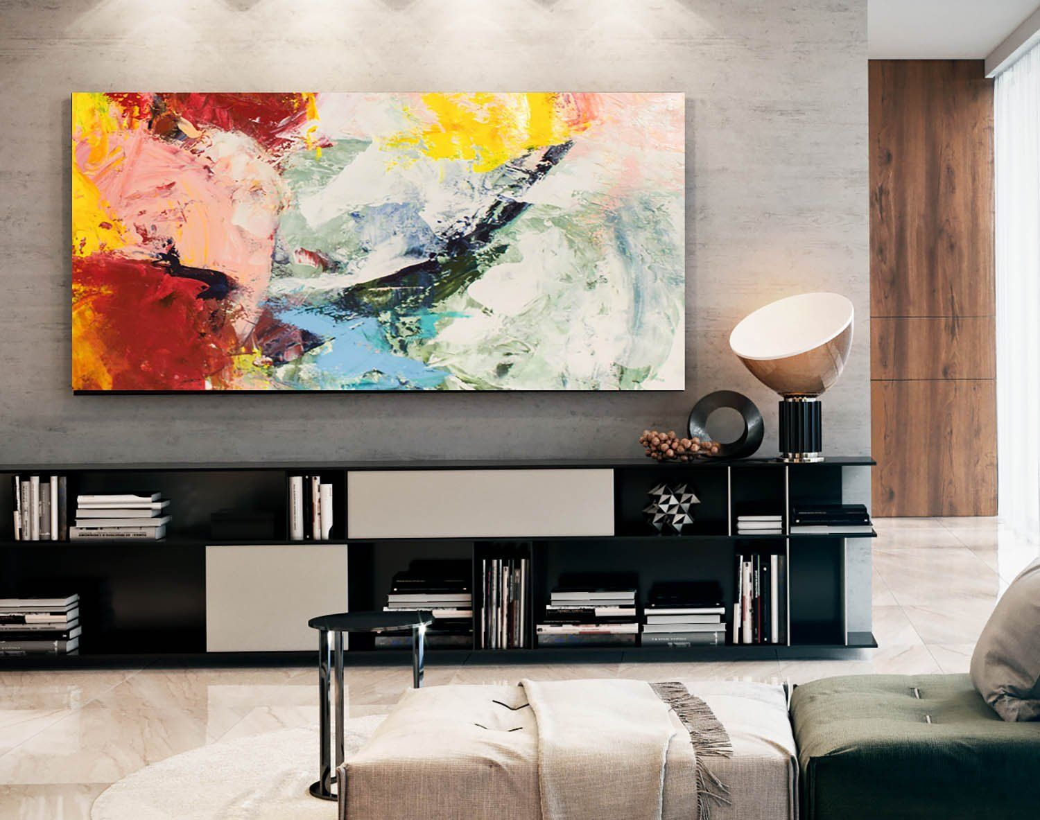 Original Paintings On Canvasliving Room Wall Artmodern Etsy