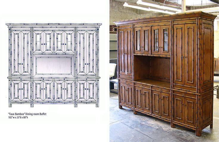 custom bamboo cabinet, custom bamboo furniture, zivsimone ...