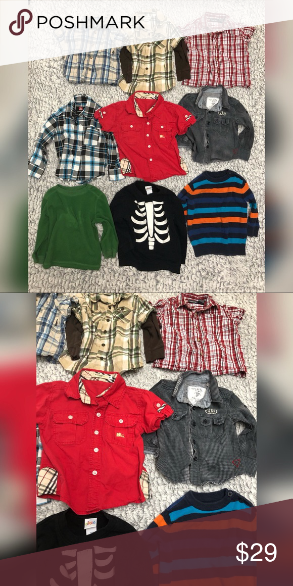 5abc90aaa Toddler boy button down bundle All in lightly used good condition some long  sleeve some short sleeve button down. Size 24 months and 2T Brands included  ...
