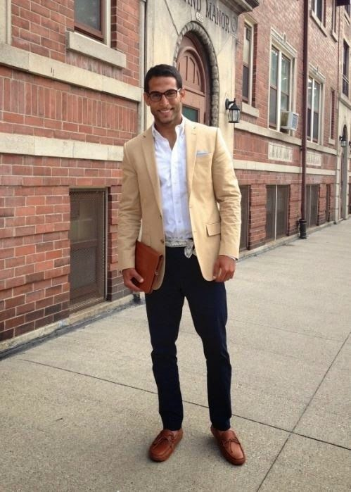 Tan Linen Jacket, Dark Denim Jeans, and Scarf Belt | For him ...