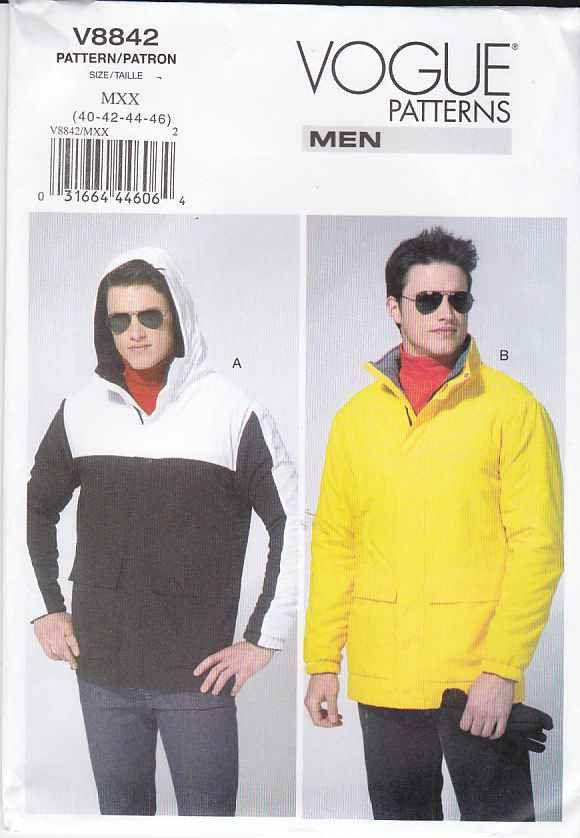 Vogue Sewing Pattern 8842 Mens Size 40-46\