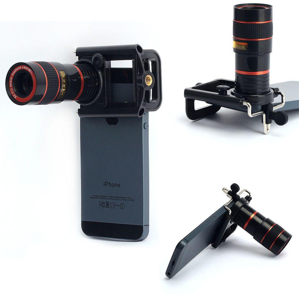 8x zoom camera telescope lens telephoto holder universal