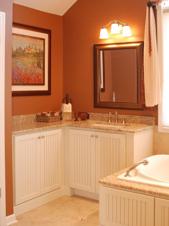 Rust Color Design Pictures Remodel Decor And Ideas Page 23 Bathroom Remodel Cost Orange Bathrooms Orange Bathroom Decor