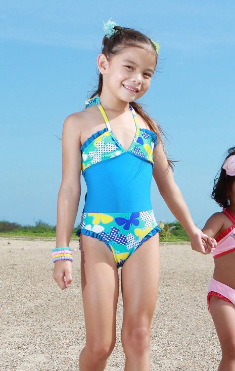 ef4e213163c9d Girl Swimsuit Kids One Piece Swimwear Children Bathers Junior Bathing Suit  | eBay