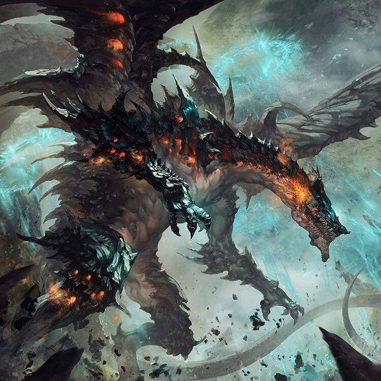 ドラゴンが暴れる壁紙