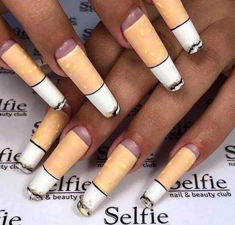 35 Surprising Photos Proving That The World Is Full Of Weird Things And People Bemethis Bad Nails Crazy Nails Weird Design