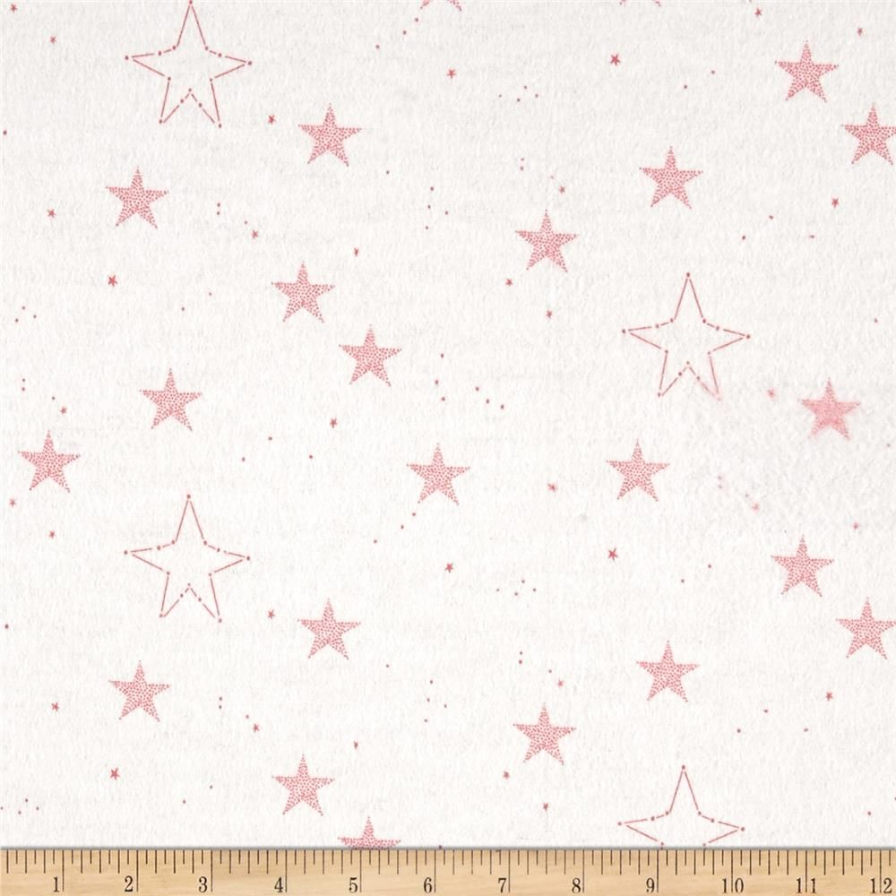 Michael Miller Flannel Sarah Jane Magic Lucky Stars Pink With
